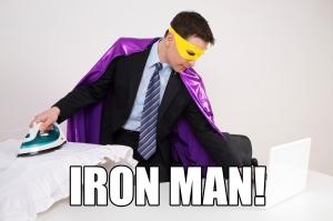 Ironing - Iron man