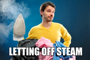 Ironing to let off steam