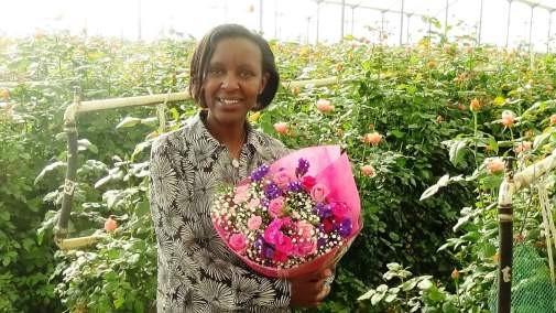 Serah Mwangi, Oserian Flower Farm, Kenya