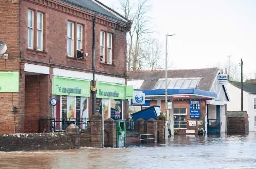Cockermouth Co-op store flooded