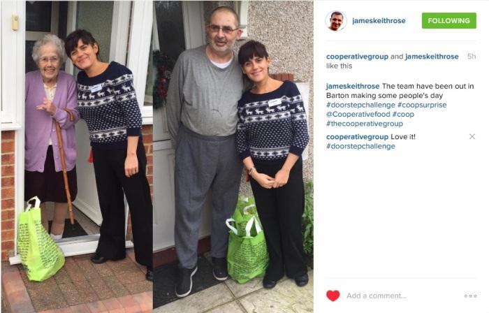 Instagram #doorstepchallenge