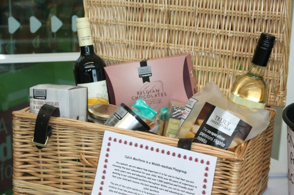 Hamper organised by Co-op Community Champion Lucy