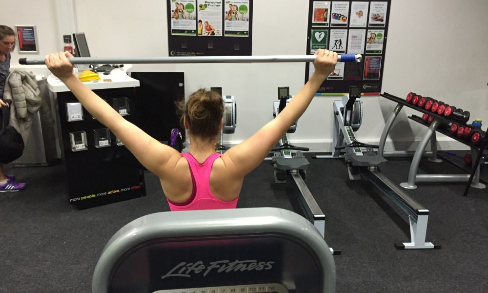 Carly Tait in training for the Paralympics