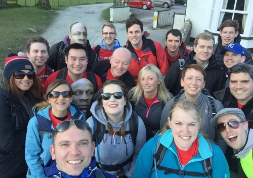 Portfolio, Acquisitions & Location Planning department at The Co-op take on the 6 Peaks Challenge in the Lake District