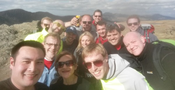 The Co-op team completing the 6 Peaks Challenge