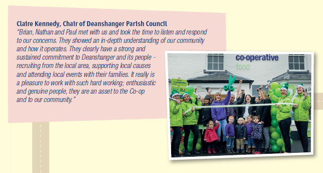 Claire Kennedy, Chair of Deanshanger Parish Council on Deanshanger Co-op