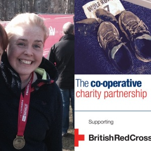 Vicki James Running the London Marathon 2016 for TeamCoop