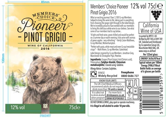 Member wine label design copy