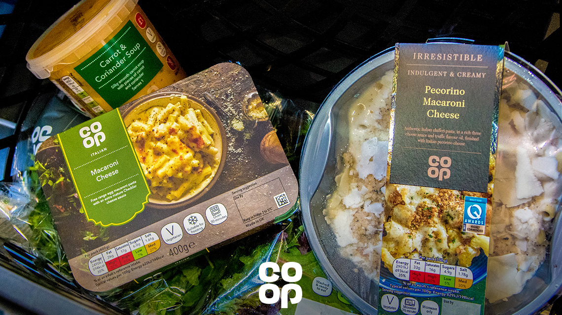 Vegetarian products at your Co-op