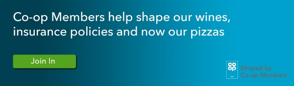 Click this Banner to Join In #TheCoopWay and help create a pizza