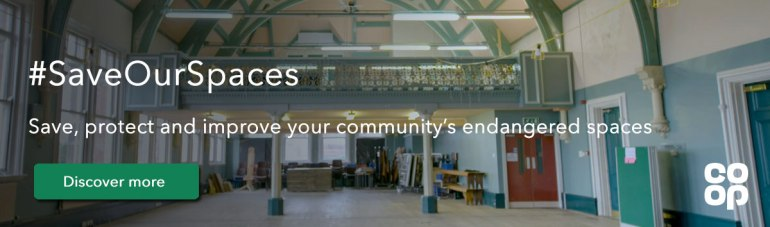 Click to find out more about Co-op's Save Our Spaces campaign with locality