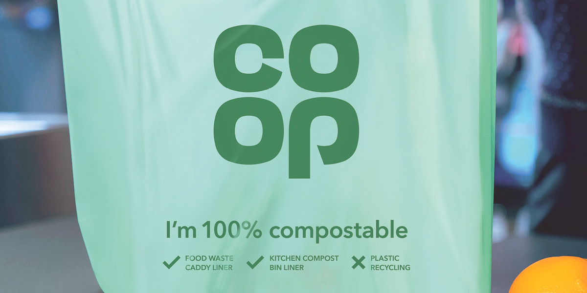 Co-op rolls out 100% compostable bags across all stores