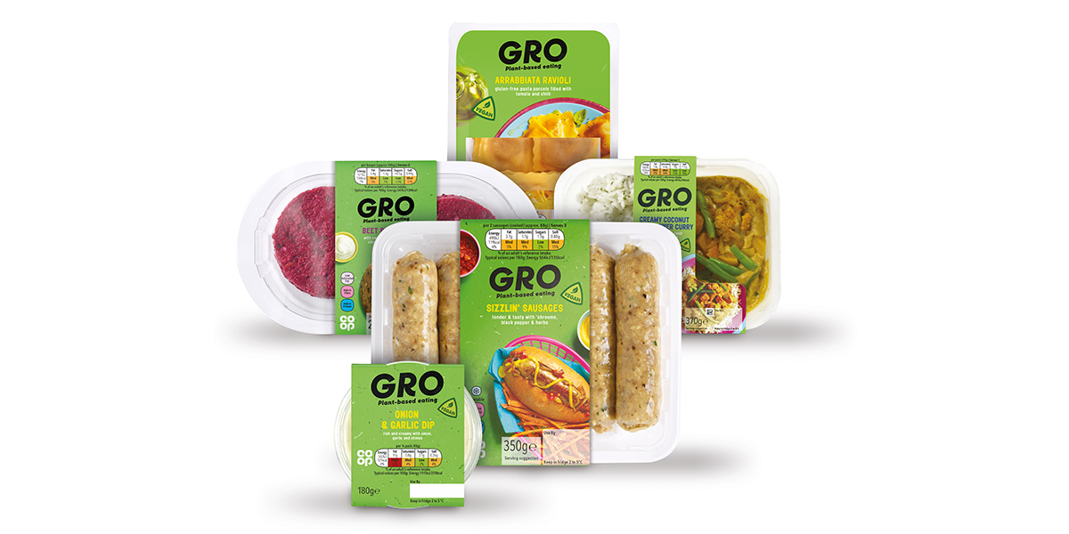 We've cut the price of our plant-based Co-op GRO range to make it more affordable for everyone!